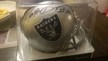 Raiders mini helmet signed by Martavis Bryant