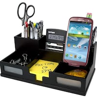 Black desk organizer with phone holder Vancouver, V6C 1A5