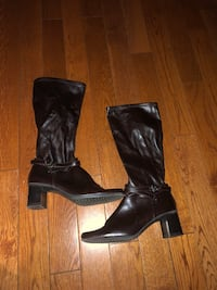 Brown leather mid calf boots  Sherwood Park, T8H 1R3