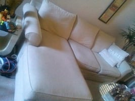 sectional sofa chenille fabric...neutral...