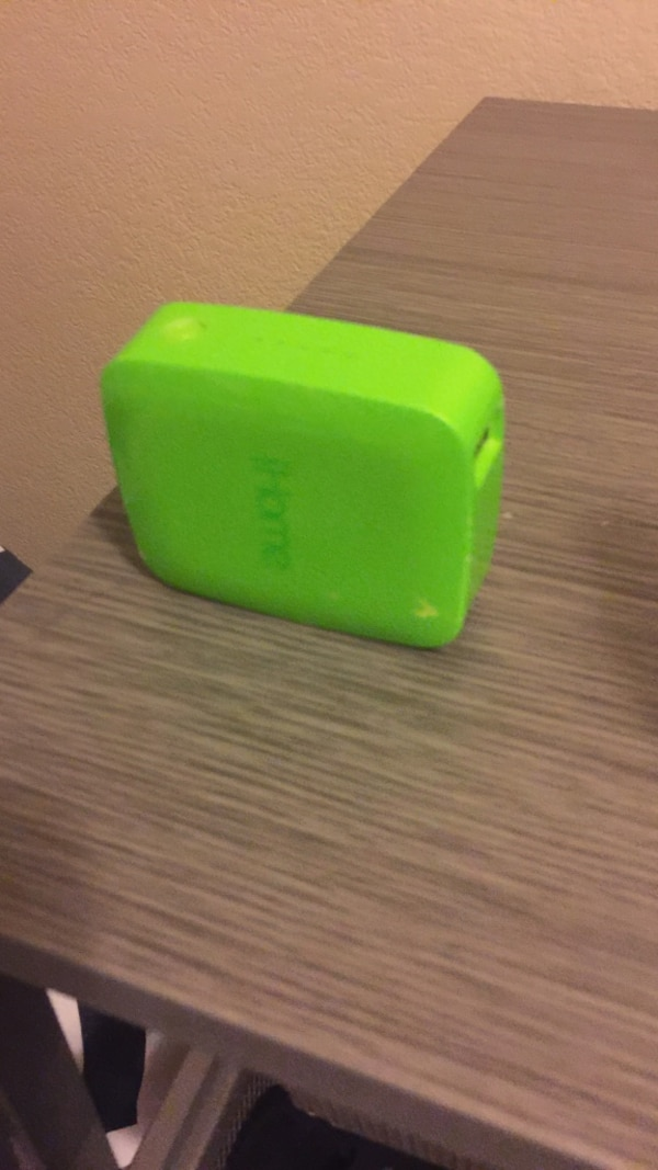 Green iHome bluetooth speaker