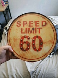 Speed Limit 60 Bar Sign Orillia, L3V 6H1