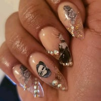 Full set Acrylic or Gel+ Freestyle Design Special Mississauga