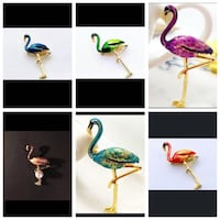 Flamingo Themed Brooches Lapel Pins Fashion Jewelry Accessories Vancouver, V5X 1A7