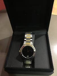 Round silver and gold Movado watch with link brace Columbia, 21044