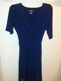 Blue Motherhood Maternity Medium Nursing Dress