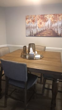rectangular brown wooden table with six chairs dining set Fairfax, 22030