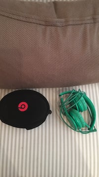 Beats by dr. Dre Green corded headphones