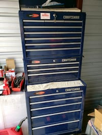 blue and gray Craftsman tool cabinet California, 20619
