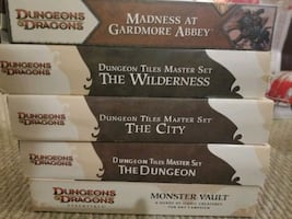 Lot of 5 full Dungeons & Dragons Box Sets