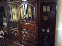 brown wooden display cabinet Bloomingdale, 07403