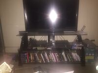 Z line black tv stand (tv not included)