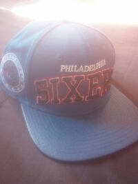 black Philadelphia Sixers printed fitted cap Euclid, 44132