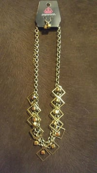 gold-colored chain necklace Pacific, 63069