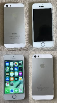 2 iphones both are factory unlocked 5s 32GB and 5s 16GB in white/silver color Ottawa