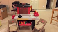 white, red, and black plastic kitchen playset Dunn Loring, 22027