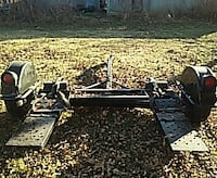 gray tow dolly trailer