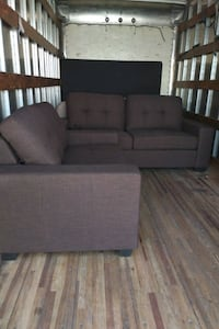 Sofa Set - Chocolate Linen (back in stock)