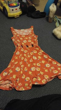 women's brown and yellow floral tank top dress Kansas City, 66104