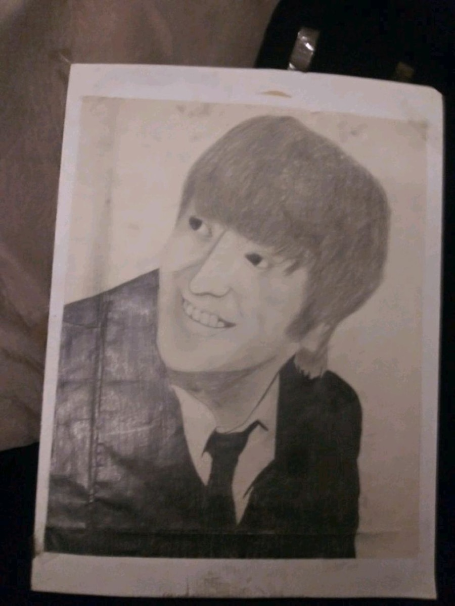 Photo John Lennon sketch