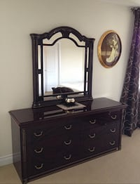 brown wooden dresser with mirror Richmond Hill, L4E