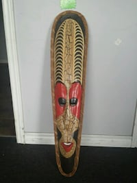 red and brown handcrafted mask from Honduras  Guelph, N1H 1E8
