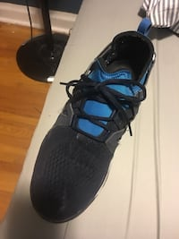 unpaired of black and blue running shoe Toronto, M9W