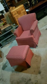 accent chair and matching footstool  Brampton, L6X