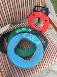 "Greenlee and Ideal Fish Tapes 2 100ft, 1 50ft Greenlee nylon fish tape 100'x3/16"" Ideal steel fish tape 100'x1/8"" Steel fish tape 50'x1/8"" asking $75 for all 3 Phoenix, 85254"
