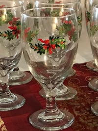 Christmas Heritage Glassware by Pfaltzgraff China Carlsbad