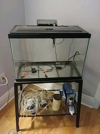 Aquarium with stand , water pump n filter