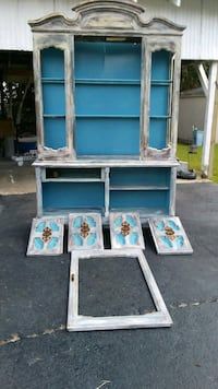 blue and white wooden cabinet Houma, 70364