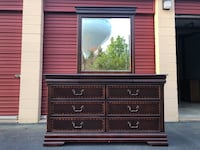 9 Drawer Long Dresser With Mirror  Woodbridge, 22192