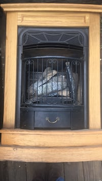 black and gray electric fireplace Charleston, 61920