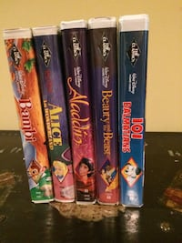 5 Classic Disney VHS tapes