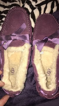 Purple UGG moccasin slippers