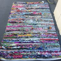 Multicolored rug from India  world market San Jose, 95127