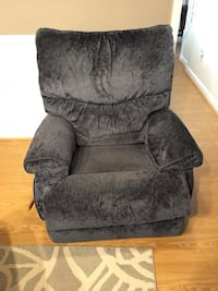gray suede recliner sofa chair Falls Church, 22205