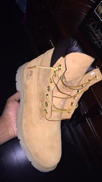pair of brown Timberland work boots Markham, L3S 3X5