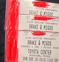 Drake w migos tickets  Houston, 77015