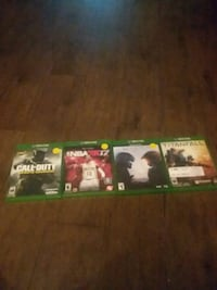 four Xbox One games $45 Ashtabula, 44004