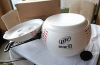 Brand new in box Detroit Tigers Baseball shaped cooler. Port Saint Lucie