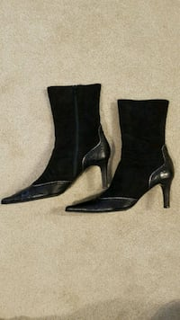 Black leather and suede ankle boots Ottawa, K2M 0A1