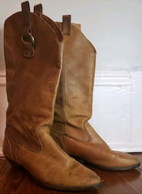 Women's Dexter Brown Genuine Leather Boots Size 7M