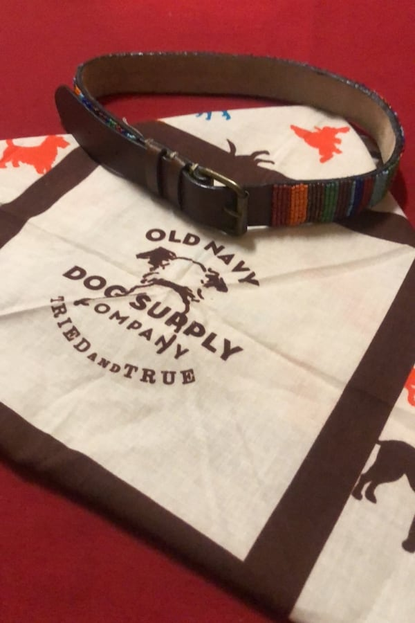 Canine Handkerchief with adorable canine collar 05732080-2620-4324-b400-47384553cd44