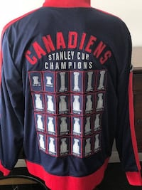 NHL CCM MONTREAL CANADIENS LORD STANLEY TRACK JACKET MEN'S XL Brand new with Tags.  Very Well made zipper jacket, Contrast zipper Embroidered team logo and CCM logo on front  Tackle twill championship banner graphic on back Officially licensed by the NHL. Toronto