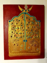 Red and gold,wall decorations ,handmade  Laval, H7P 5K8