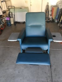 blue leather padded rolling chair Fresno, 93722
