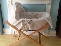 baby's beige and white bassinet Birmingham, B24 9DY