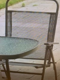 Patio set with 4 chairs, cushion ,and  umbrella,stand Charlotte, 28278